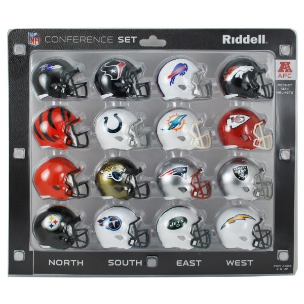 16 NFL Pocket Pro Size SPEED Mini Helmets  AFC Set by Riddell