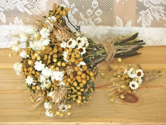 bouquet dried flower wedding