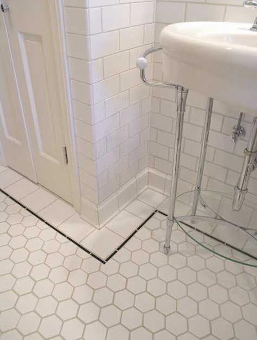 37 black and white hexagon bathroom floor tile ideas and ...