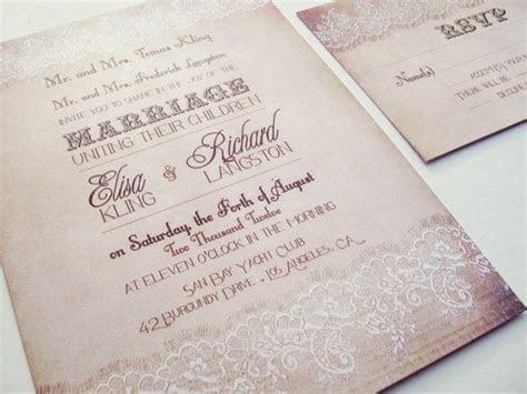 Vintage Lace Rustic wedding invitation set by ABandIG on