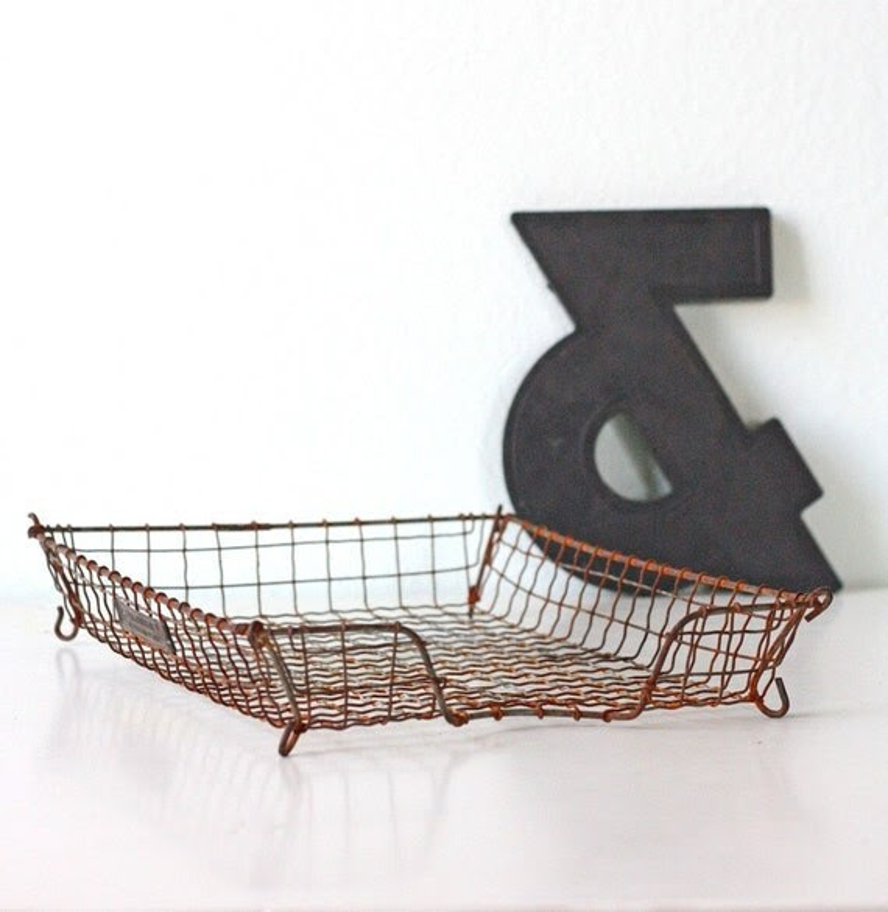 Vintage Acme Wire Basket