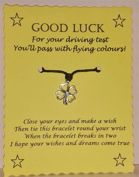 Good Luck Driving Test Quotes