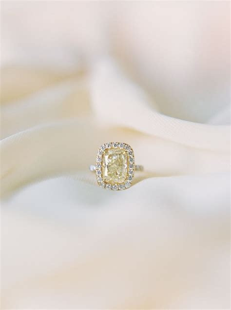 25  best ideas about Yellow diamond engagement ring on