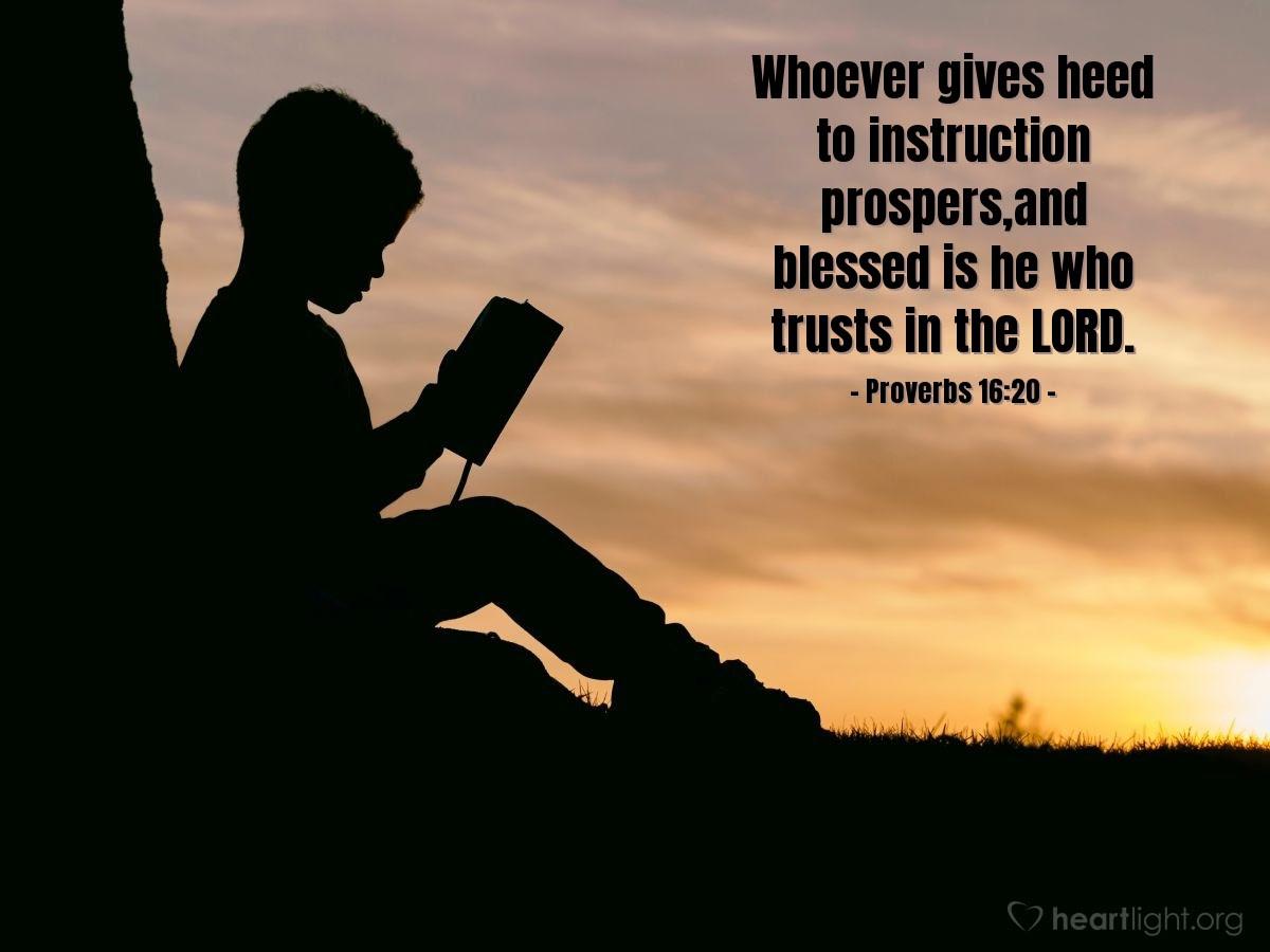 Illustration of Proverbs 16:20
