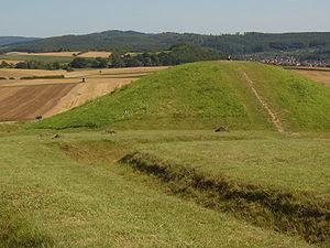 Keltischer Grabhügel auf dem Glauberg