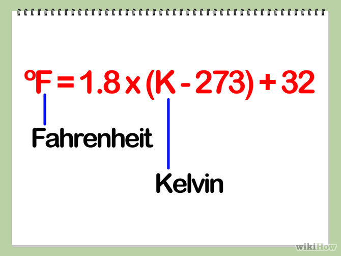 How to Convert Kelvin to Fahrenheit or Celsius