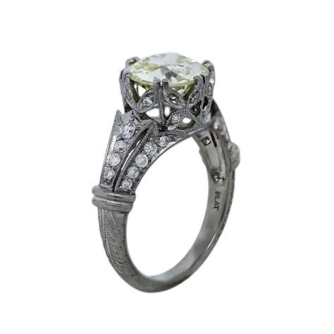 Platinum 2.45ct Old European Cut Diamond Vintage Style