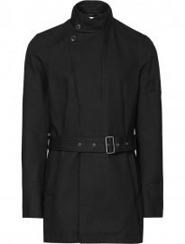 Reiss Storm Belted Jacket Black
