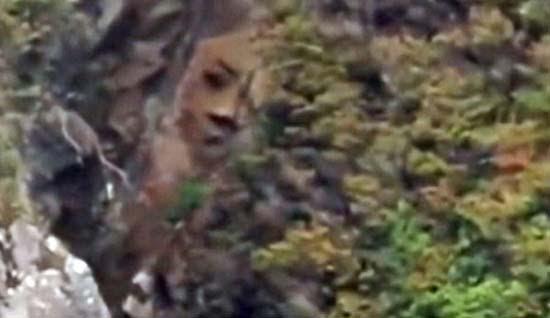 Misterioso rostro acantilado Canadá