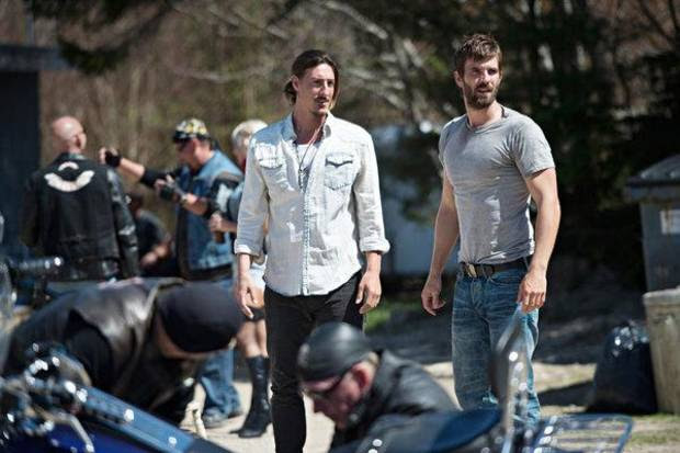 """HAVEN -- """"Fallout""""  Episode 401 -- Pictured: (l-r) Eric Belfour as Duke Crocker, Lucas Bryant as Nathan Wuornos -- (Photo by: Michael Tompkins/Syfy)"""