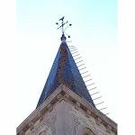 Côte d'Or   Orages : le clocher de l'église de Saint-Anthot touché par la foudre