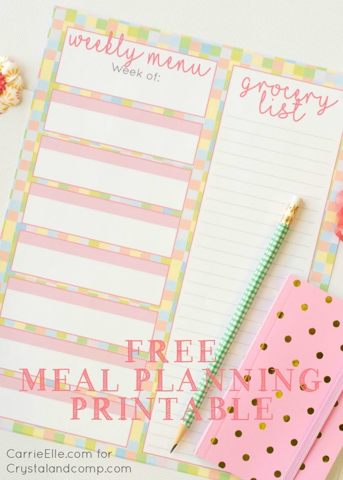 Free Spring Meal Planning Printable