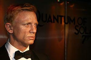 Wax figure of Daniel Craig at Madame Tussauds,...
