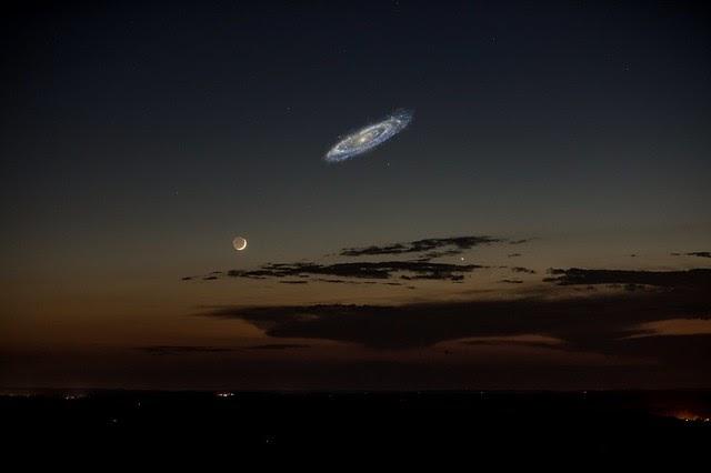 Así se vería Andrómeda en el cielo si brillara más