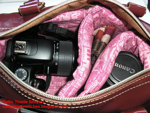 Camera Bag insert with camera