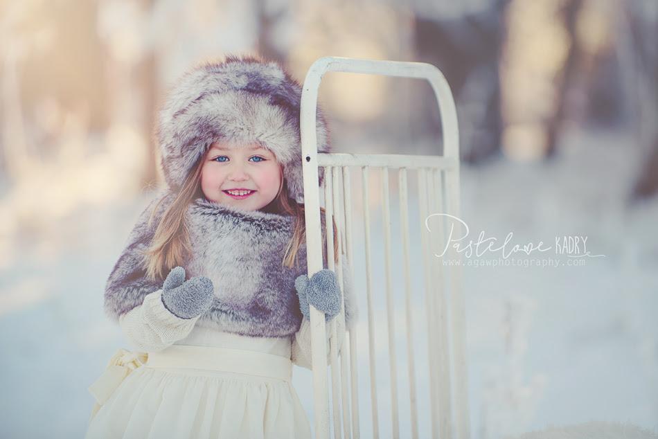 zimowa sesja dziecięca