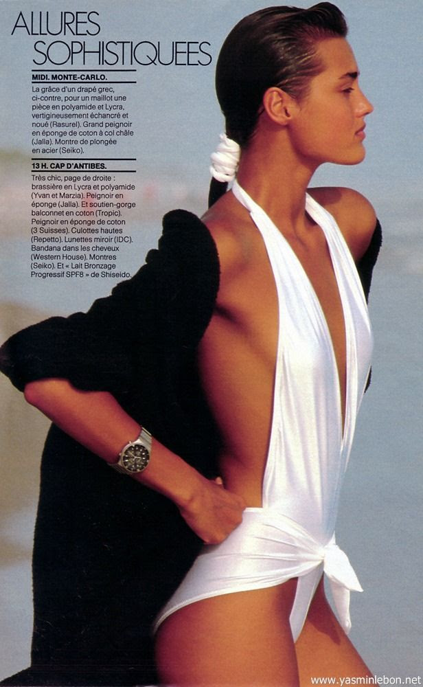 Yasmin by Giles Bensimon 1985  I secretly brought these bathers - but never let my mother know!!!