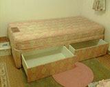 Divan bed: handy storage space