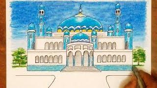 All Clip Of Cara Mewarnai Gambar Pemandangan Masjid Bhclipcom