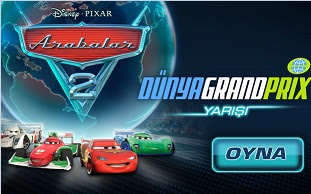 Arabalar 2 Dünya Grand Prix Yarışı Türkçe Oyunu Oyna Yarış Oyunları