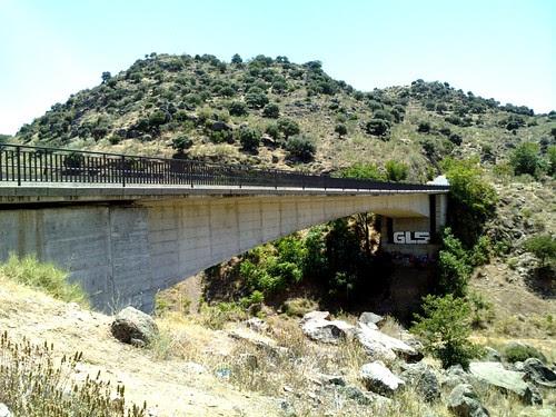 Puente sobre el Arroyo de la Degollada en la actualidad. Foto Jav
