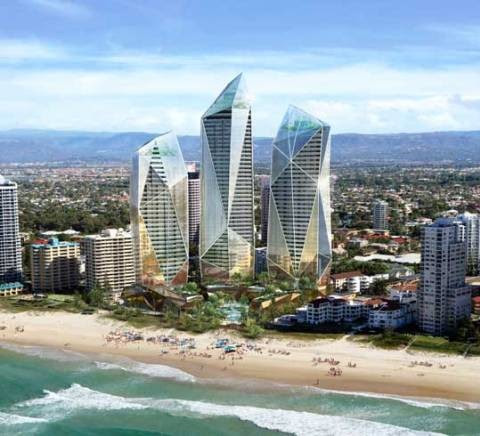 Triple-tower approved on Gold Coast: DBI Design and Oppenheim