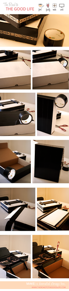 Step by Step Instructions for Creating Decorated Storage Box
