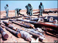 Chemical weapons rockets unilaterally destroyed by Iraq after the first Gulf War