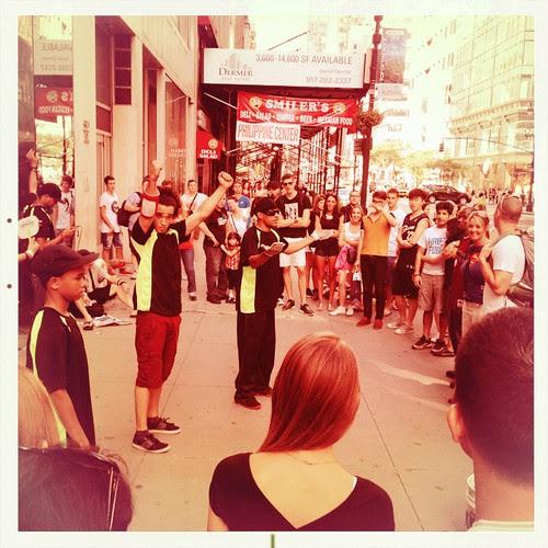 Breakdancing crew, Midtown