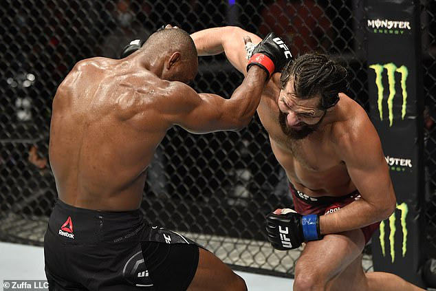 Nigerian UFC star, Kamaru Usman retains his Welterweight title by unanimous win after beating Jorge Masvidal (Photos)