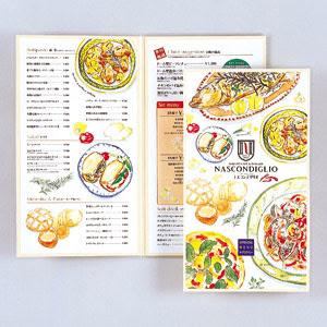 オルクリデザインギャラリー イタリア料理店メニュー用イラスト