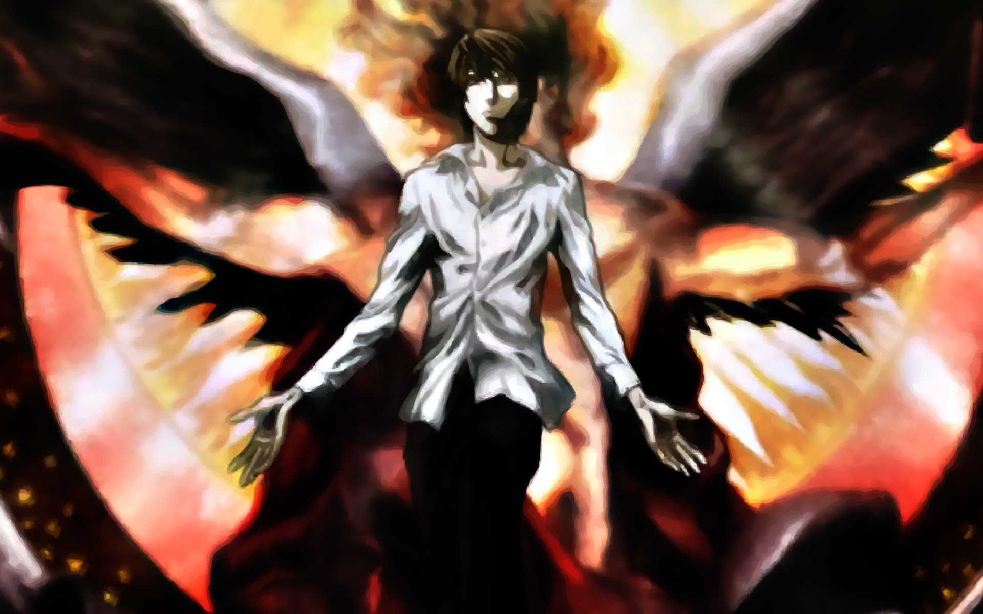 Death Note Light Angels Yagami Light 1920x1200 Wallpaper Anime