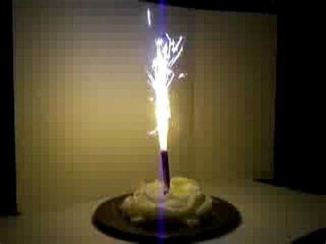 How to light Birthday Cake Sparklers   YouTube