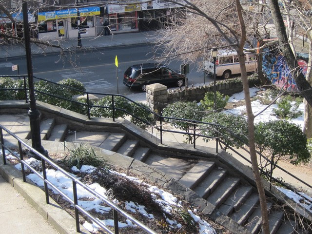 The steps of Isham Park in Inwood