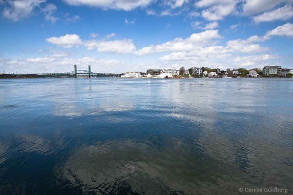 Portsmouth, NH, under blue skies