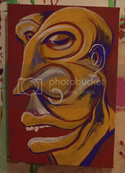YellowFace portrait, BingoRage studio,Broken Vulture Art