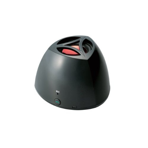 Logitec 【iPhone5にも対応】 Bluetoothポータブルモノラルスピーカー ハンズフリー機能搭載 ブラック LBT-MPSPP10BK