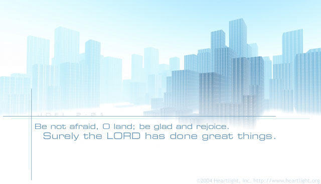 Inspirational illustration of Joel 2:21