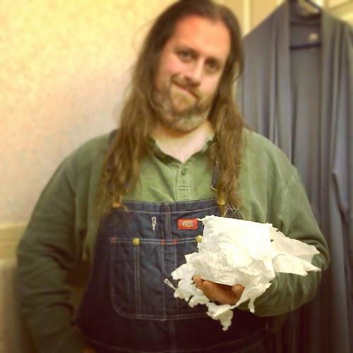 What my idiot cat did to the toilet paper. #Lester #CatsOfInstagram #DumbDumbDumb