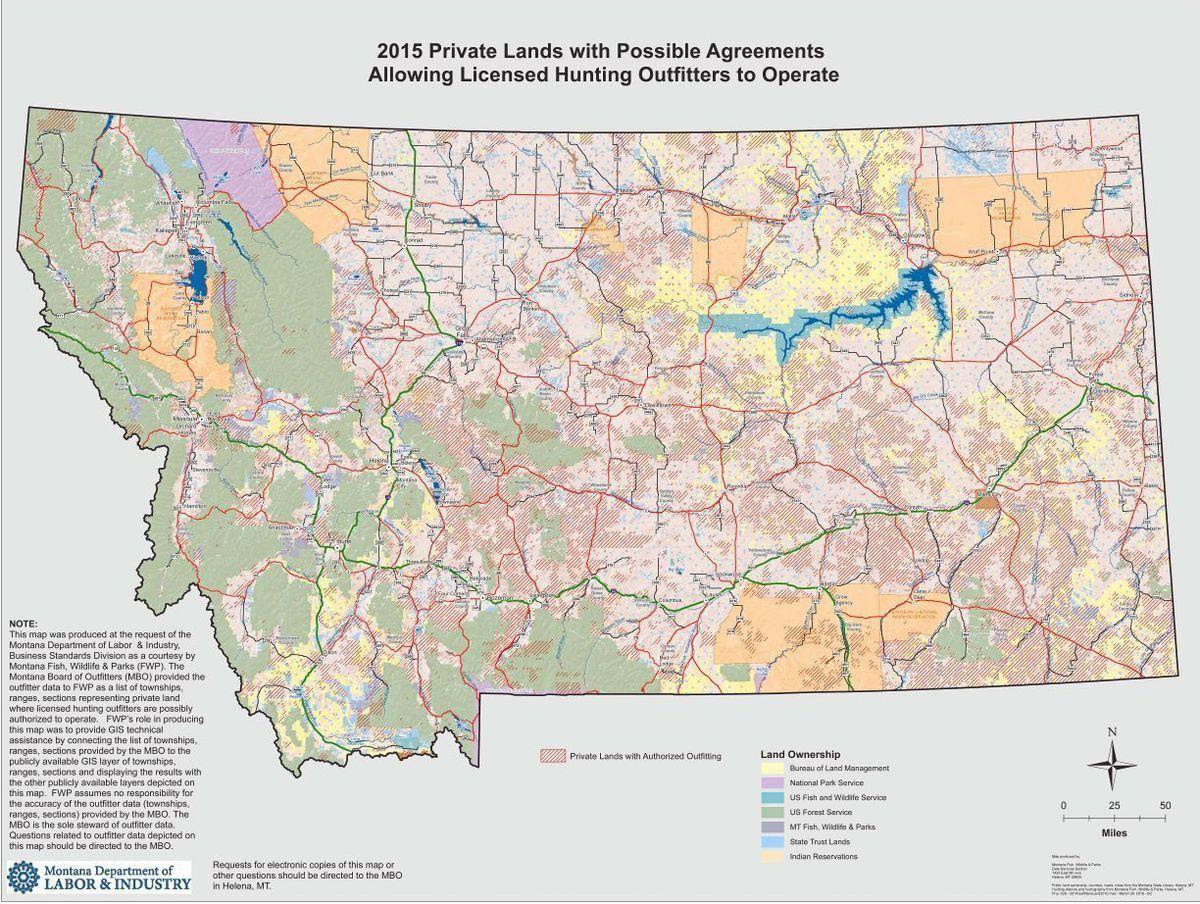 Montana Outfitted Lands Map Sparks Controversy State