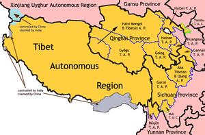 Ethnic Tibetan autonomous entities set up by t...