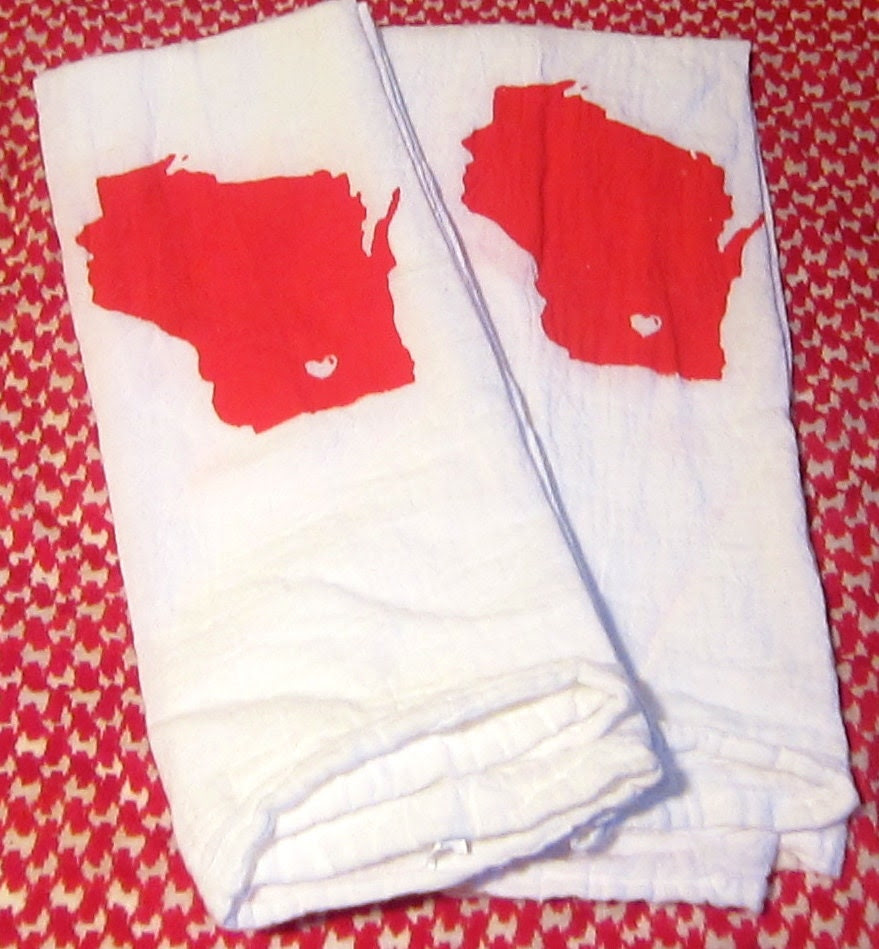 Wisconsin Love Tea Towels