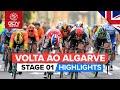 Vídeo resumen de la 1ª etapa de la Volta ao Algarve 2020