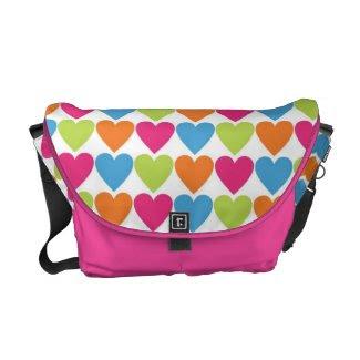 Big Bright Hearts Messenger Bag rickshawmessengerbag