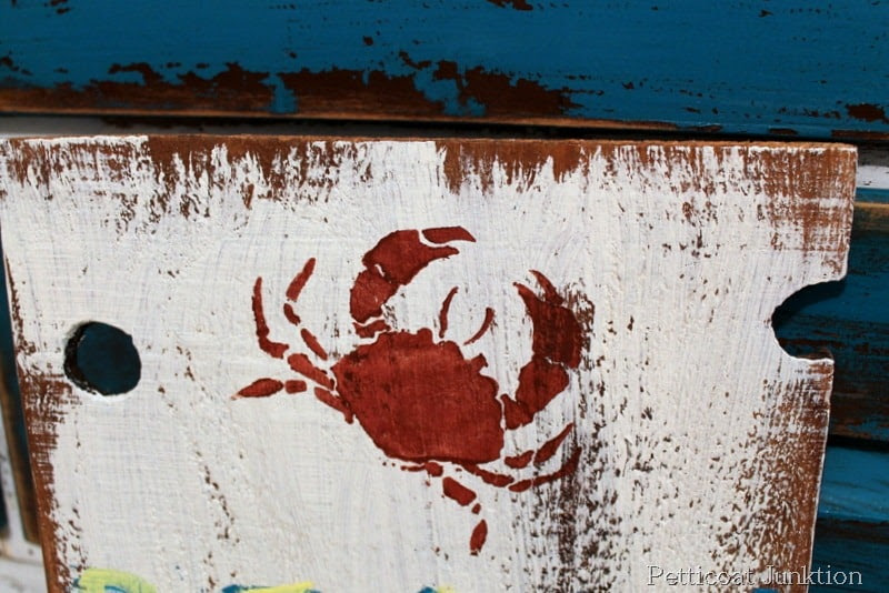 stencil. wood rustic crab  when the  bought in lived love stencil signs we Florida beach the  I