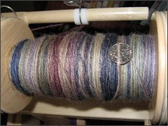Josie yarn, plying progress