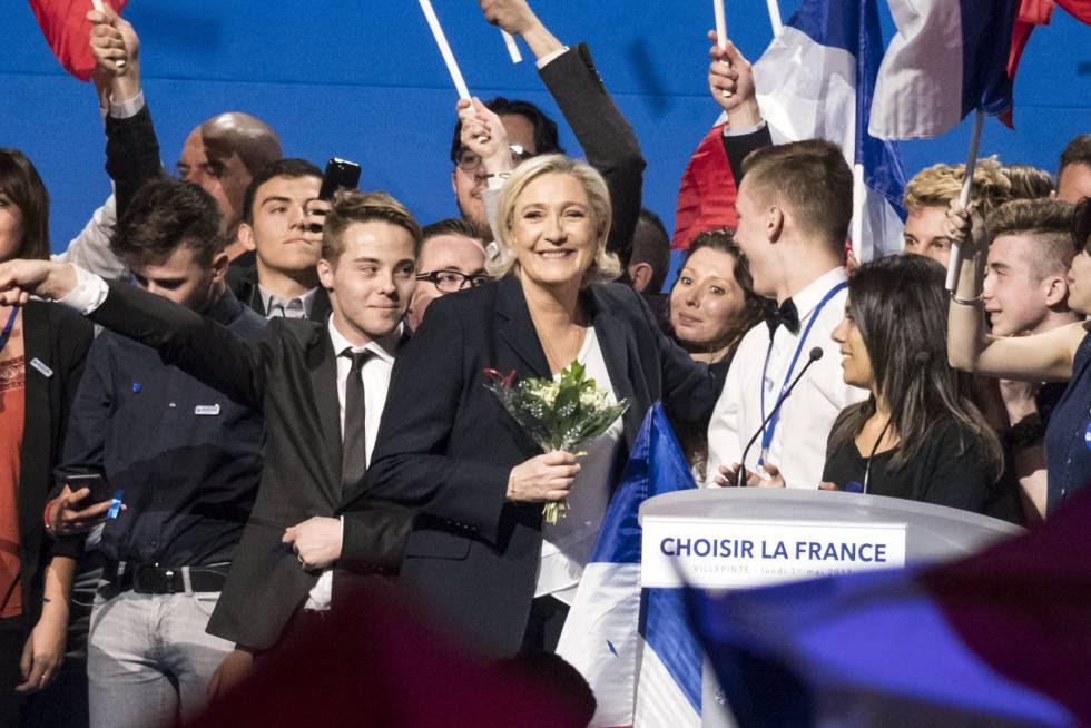 Marine Le Pen, este 1 de mayo en Villepinte, al norte de París.rn