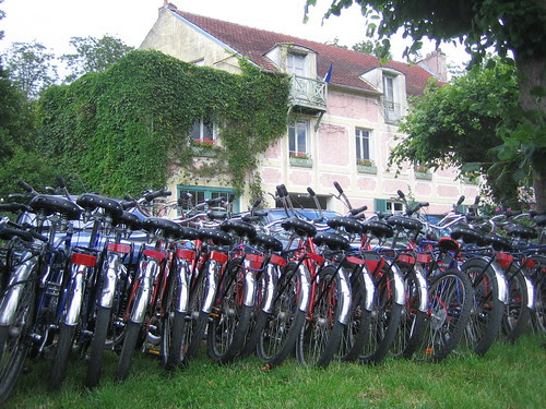 Bikes in Giverny by Cynthia Morris