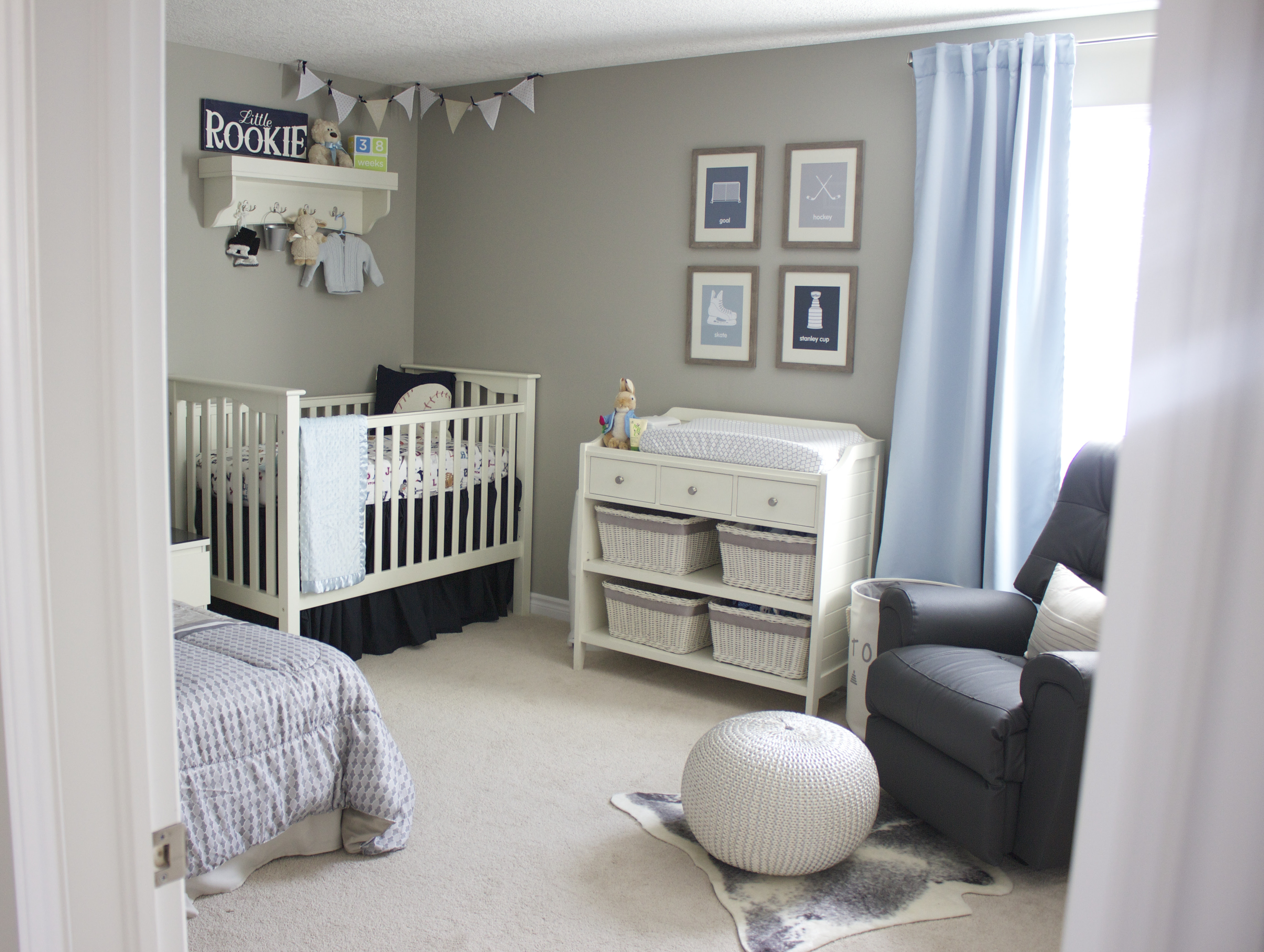 A Blue and Gray Sports Inspired Nursery - Project Nursery