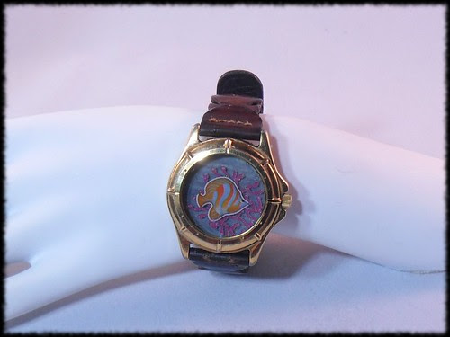 Under the Sea - resin in an old watch